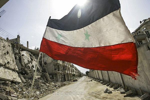 Syrská vlajka; foto: Freedomhouse