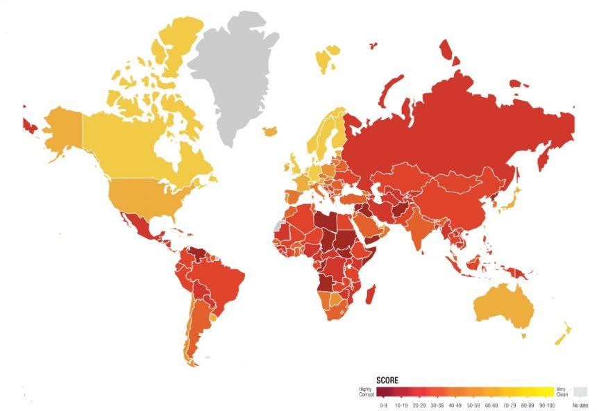 Vyšel Index vnímání korupce pro rok 2018, Česká republika si polepšila
