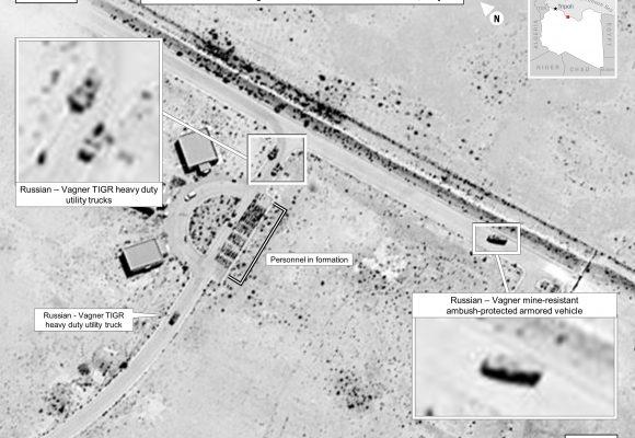 Rusko a jeho žoldnéři bojují v Libyi, odhalují to satelitní snímky